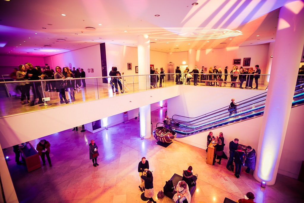 Kings Place Gallery & Music Foyer with production